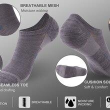 Носки спортивные для бега, носки Походные унисекс из мериносовой шерсти ZEALWOOD с противоблистерной подушкой, 3 пары