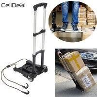 Saco de mano plegable de alta resistencia, carro de carretilla plegable de 35kg, carro de viaje para equipaje, carrito de compras portátil para uso doméstico