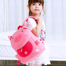 купить Cute 3D Pink Pig School Bags for Girls Fashion Animals Design Kids Children Backpacks Students Book Schoolbag Mochila Escolar по цене 629.17 рублей