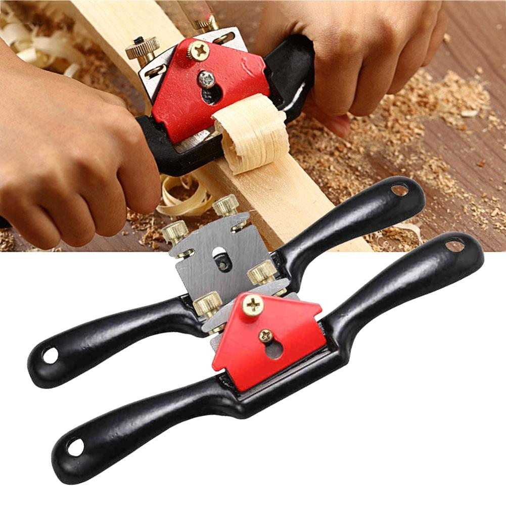 9in/10in Single/Double Wire Deburring Adjustable Plane Spokeshave Woodworking Hand Push Slotted Planer Trimming Hand Tools