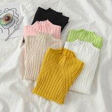 DeRuiLaDy 2019 New Fall Casual knitted Sweater women Turtleneck Slim Sw