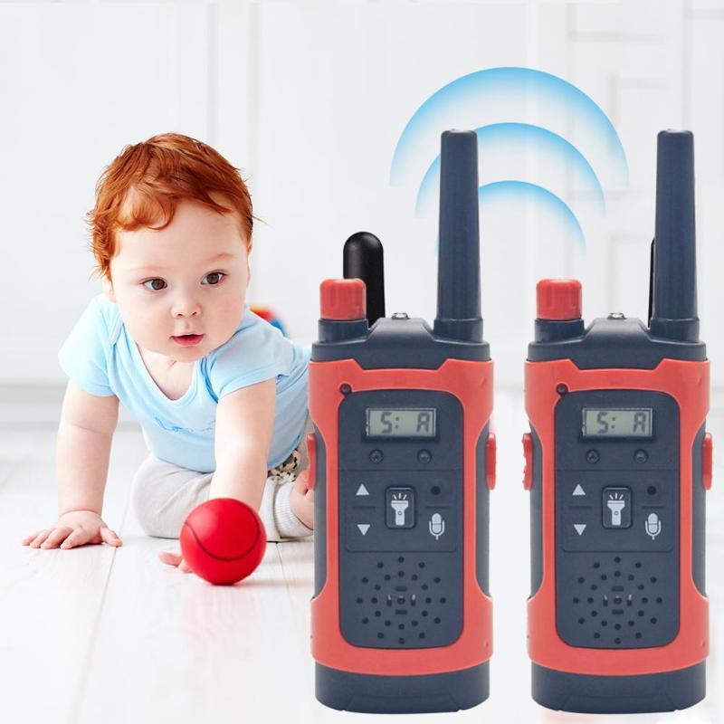 1 Pair Mini Handheld Walkie Talkies Develop Children Curiosity Creativity Kids Two-Way Radio Wireless Communicator