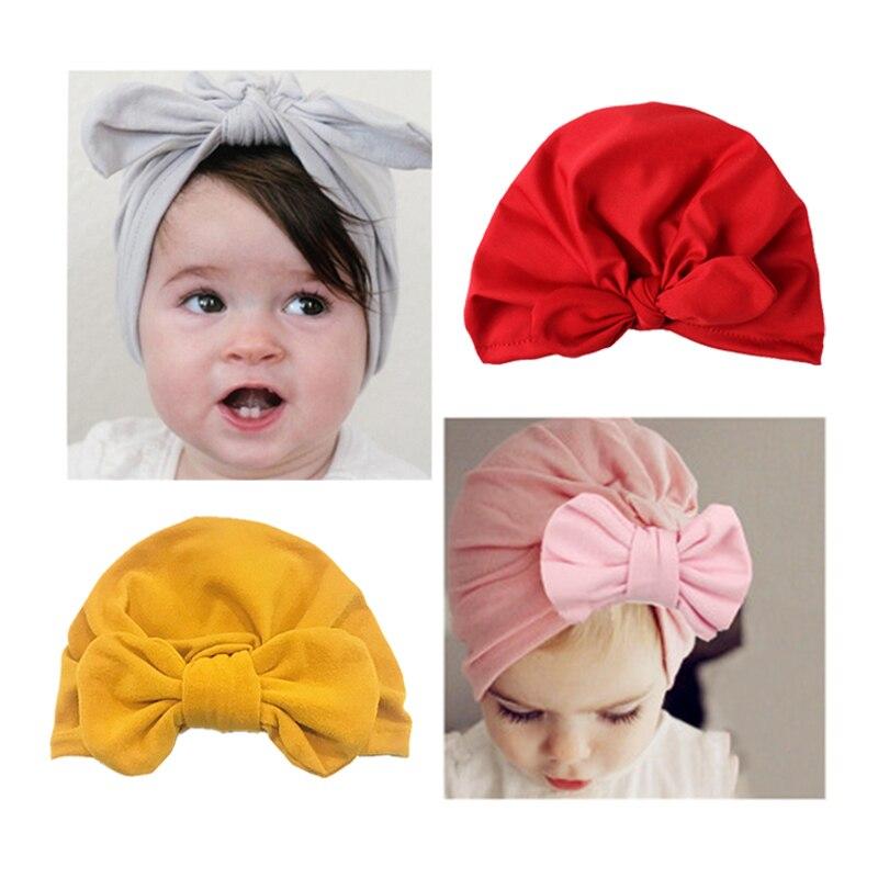 Velvet Knot Baby Caps Turban Beanie Hat Headbands For Newborn Elastic Hair Bands Headwarp For Baby Girls Infant Hair Accessories