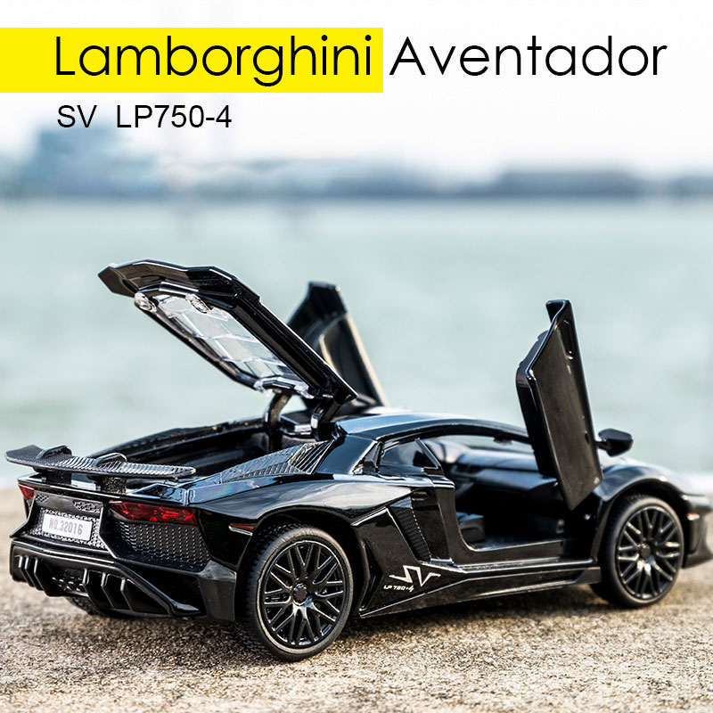 1:32 Vehicle Car Toy Car Model Pull Back Toy For Children Pull Back Models Sound Light Boy Kid Gifts For Lamborghini LP750