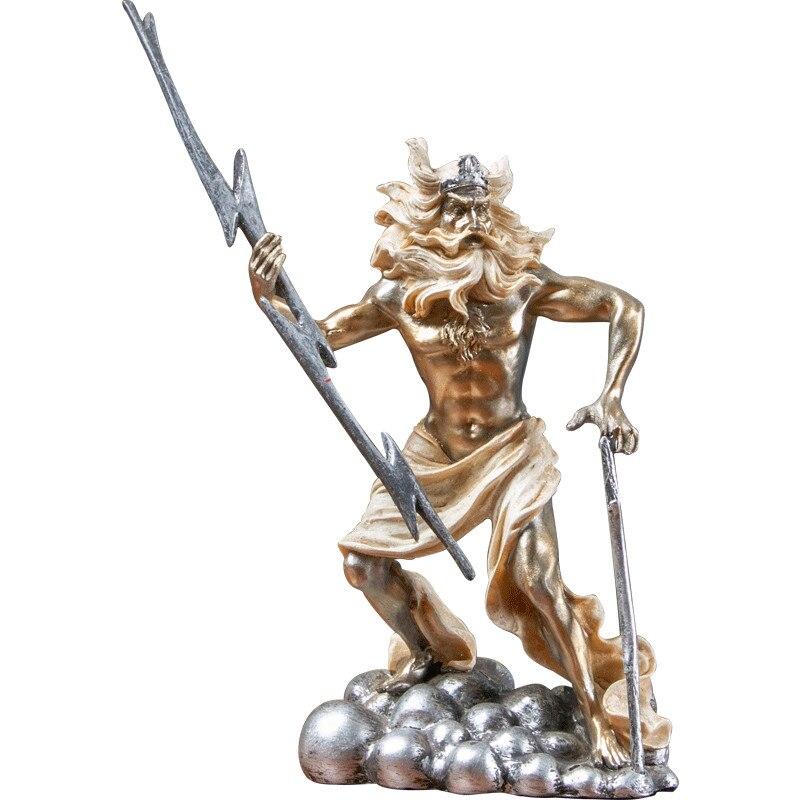 Ancient Greek Myth Sculpture Death Character Statue Resin Art&Craft Desktop Retro Poseidon Zeus Figurines Home Decorate R2755 Statues & Sculptures     - title=