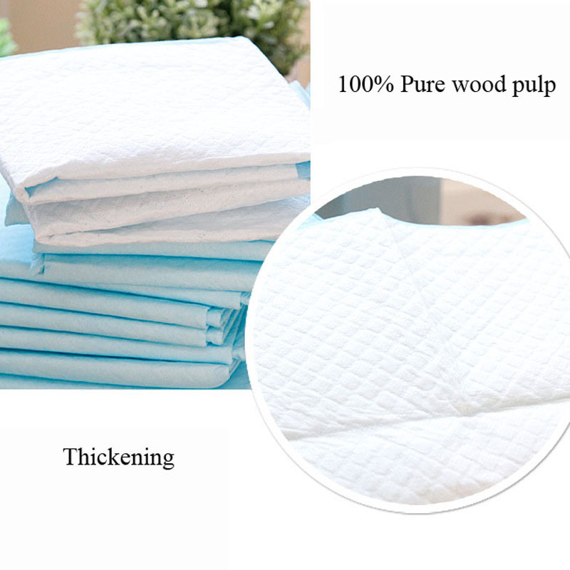 Disposable and Super Absorbent 100 Pcs Dog Training Pad for Pets with Pure Wood Pulp 7