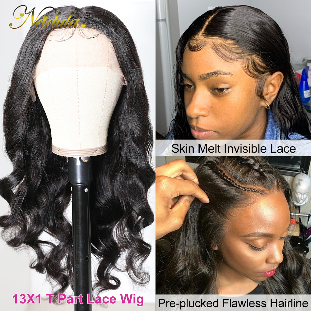 Body Wave Lace Wig   150% Density 13x1 T Part Lace Front Wig with Baby Hair Nadula Deep Part  Wigs 3