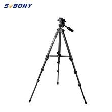 """Профессиональный портативный алюминиевый штатив SVBONY 54,"""" для путешествий, Монокуляр для фото, Зрительная труба, цифровая зеркальная камера F9140"""
