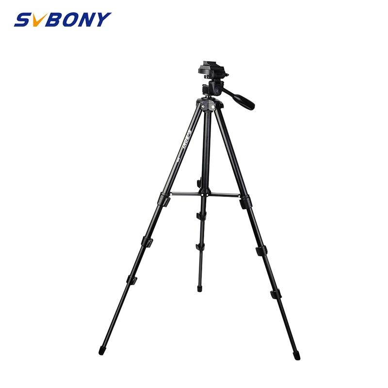 SVBONY  Universal Tripod Camera Holder Portable Phone Holder Level 5 Section Professional SLR Camera Tripod Aluminum Photography