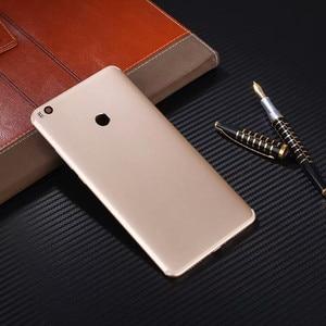 Image 2 - Max2 Original couverture arrière pour Xia mi Mi Max 2 boîtier métal batterie porte réparation remplacer téléphone coque arrière + Logo caméra lentille boutons