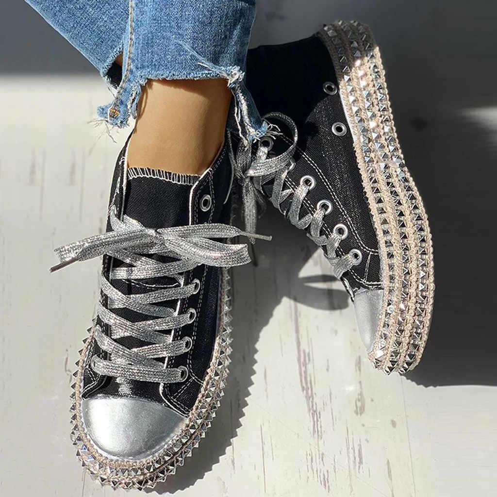 Sapatos femininos casuais de renda baixa, calçados de lona com estampa de leopardo, corda grossa, respirável botas femininas