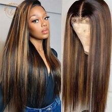 #1B/27 Выделите парик 13X4 Цветной Синтетические волосы на кружеве человеческие волосы парики предварительно вырезанные блонд, Синтетические в...