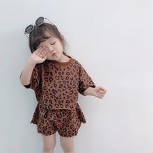 Baby Girls Clothes Set Summer 2019 Infant Kids Fashion Leopard T Shirt Short Pants 2pcs Suit Outfits Clothing 2 4 6 8 Year