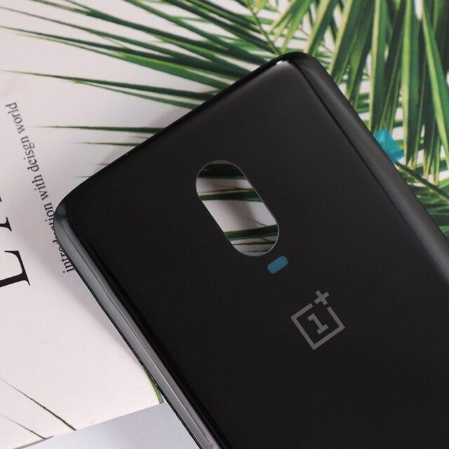 Oneplus 6T couverture arrière dorigine pour Oneplus 6T One Plus 6T logement batterie en verre téléphone intelligent porte coque de remplacement avec colle