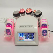 2019 Newest 6 In 1 40K Ultrasonic Cavitation Vacuum Radio Frequency rf Laser 8 Pads lipo Laser Slimming Machine for home use vacuum rf skin care salon spa equipment 40k ultrasonic liposuction cavitation 8 pads