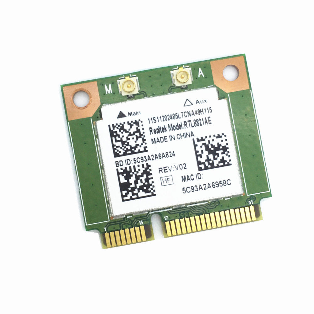 Realtek RTL8821AE 802.11AC 433Mbps WiFi Bluetooth 4.0 Combo Half Mini PCI-e Bluetooth Wireless Wifi Card