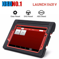 LAUNCH X431 V 8 inches Support System Diagnosis Connect LAUNCH X431 OBD2 Car Scanner Support WiFi/Bluetooth code reader