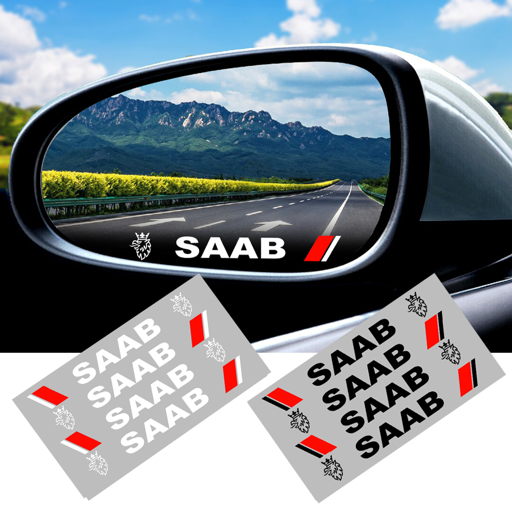 4Pcs High Quality Car The Door Handle Stickers Decals 3D Carbon Fiber Vinyl Car Sticker For Saab 9-3 9-5 900 9000 Scania Etc.