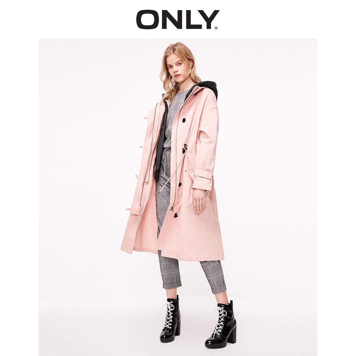 Women's Winter Detachable Lining Loose Fit Mid-length Drawstring Design Cotton Coat  | 119122511