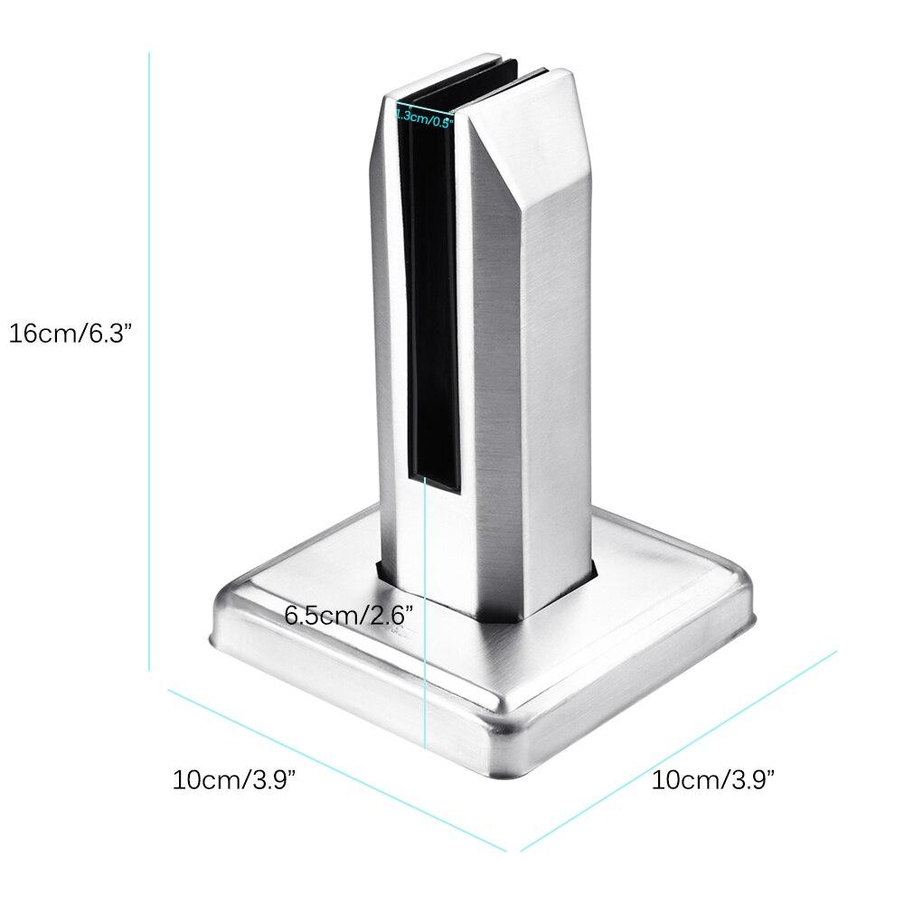 eYpins 4PCS Pinces /à Verre Ajustable en Acier Inoxydable 304 8mm Clips avec 40mm Supports pour Balustrade Escalier Salle de Bain