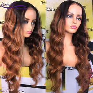 Image 3 - 180% Colored Human Hair Wigs Brown Color Wigs 13X4 Body Wave Remy Preplucked Ombre Brown Lace Front Wig Preplucked Dream Beauty