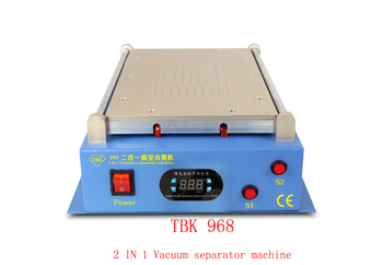 TBK-968 2in1 vacuum lcd separator machine hot plate automatic touch screen separator repair for tablet mobile Free shipping novecel lcd separator non slip rubber mat silicone pat with holes specialized mat for hot plate separator machine