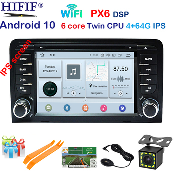 DSP IPS Car Multimedia player Android 10 GPS 2 Din Autoradio Stereo System For Audi/A3/S3 Octa Core 4GB RAM wifi Car DVD Player image