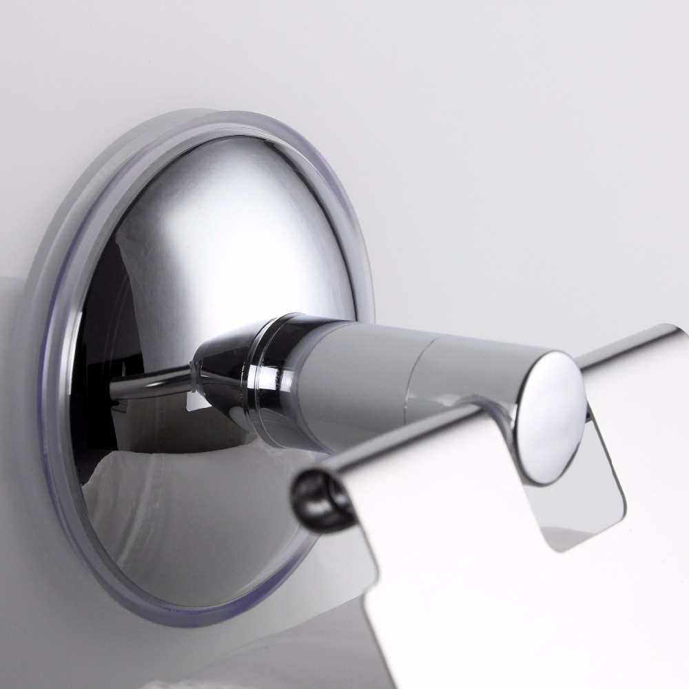EHEH Stainless Steel Heavy Duty Toilet Paper Holder Wall Mounted Bathroom Fixtures Silver Color Wc Suction Roll Paper Holders