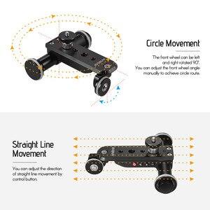 Image 5 - Andoer PPL 06S פרו אלומיניום סגסוגת ממונע וידאו מצלמה דולי מסלול מחוון + טלפון מחזיק לgopro גיבור 7 Canon Sony DSLR מצלמה