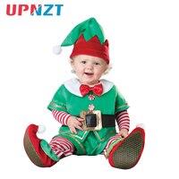 Baby Romper Cap Shoes Suit Set Newborn Kid Toddler Christmas Halloween Costume Santa Claus Deer Elf Snowman Clothes 3M 3T