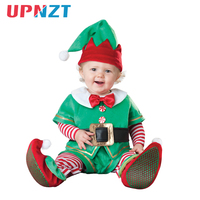 Baby Romper Cap Shoes Suit Set Newborn Kid Toddler Christmas Halloween Costume Santa Claus Deer Elf Snowman Clothes 3M 3T
