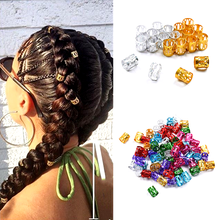 Adjustable Cuffs-Clips Lock-Tube Hair-Accessories Beads Braids Silver Micro Gold