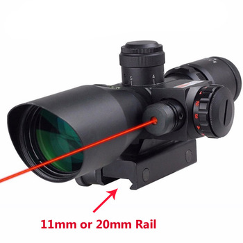 Tactical Riflescope 2.5-10x40 Hunting Optics Laser Rifle Scope Red Green Reticle Military Shooting Rifle Sight 20mm Or 11mm Rail