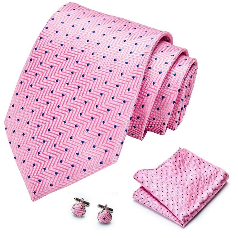 40Color New Design 8cm 100%Silk Tie Set Floral Ties Handkerchief And Cufflinks Business Wedding Party Printing Neck Ties For Men