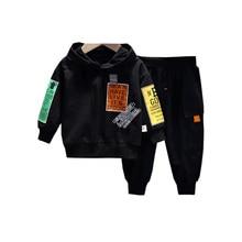 Children Sportswear Hoodies Cotton Pants Clothing Suit Spring Baby-Boys-Girls Kids Letter