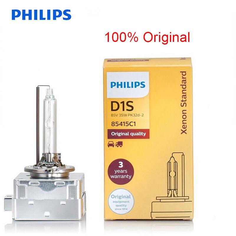 Philips Original D1S HID 85415 35W Xenon Standard Head Lamp 4200K Bright White Light Auto Bulb ECE Approve 100% More Clearer, 1X