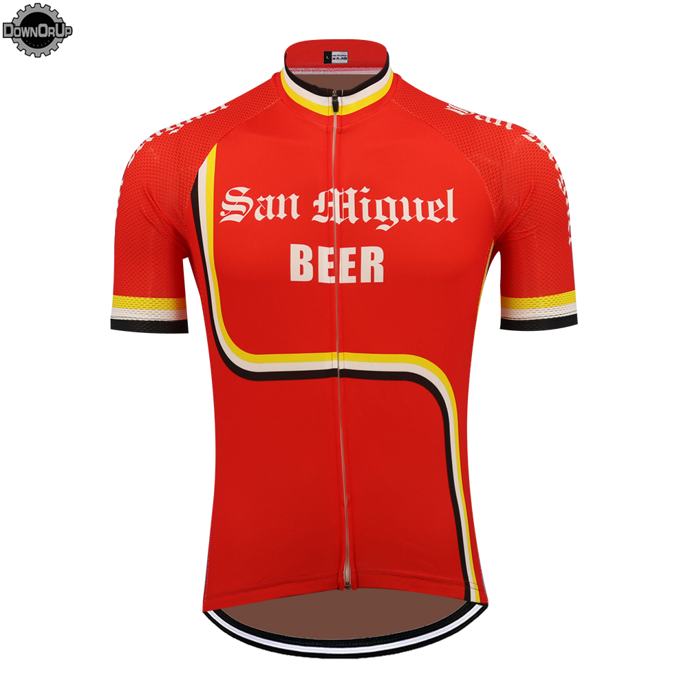 Cycling-Jersey Mountain-Bicycle Bike-Wear Short-Sleeve Beer Ciclismo Maillot Red