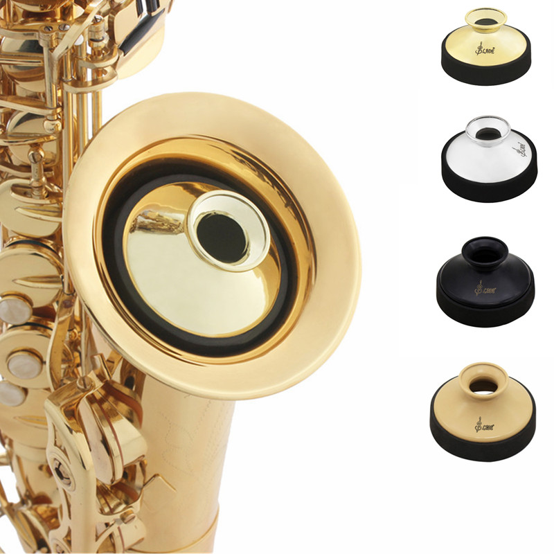 Round Light-weight ABS Mute Silencer Alto Saxophone Mute Mini Sax Silencer Musical Buffer Woodwind Instrument Accessories