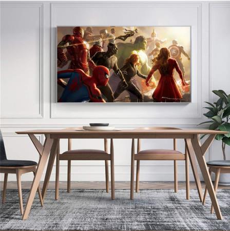 Современная Настенная живопись Мстители персонаж эндшпиль Железный человек Тор Капитан Америка постеры картина холст домашний декор - Цвет: Коричневый