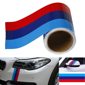 In Stock 3M Car Stripe Sticker 3 Colors Car Vinyl Decal For BMW M3 M4 M5 M6 3 5 6 7 Series Car styling Car Accessories image