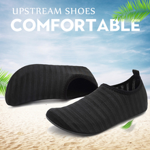 Striped Women Men Beach Sneakers Beach Elastic Quick Dry Water Sports Surfing Swimming Diving Underwater Upstream Creek Shoes