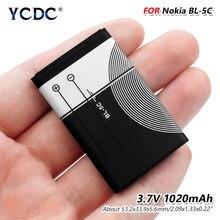 2020 nowy 100% BL-5C BL 5C BL5C oryginalny telefon komórkowy akumulator litowo-jonowy 1020mAh dla Nokia 1100 1101 1110 1112 1208 1600 1680