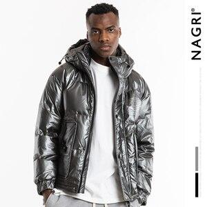 Image 5 - Nagri 2020 Nieuwe Mode Winter Reflecterende Mode Heren Jas Dikke Warme Streetwear Casual Hooded Jassen Jas 19Y131