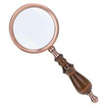 Draagbare Houten Handvat Vergrootglas 20X Vergrootglas Voor Soldeer Lezen High Definition Eye Loep Glas