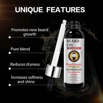 2Pcs Beard Growth Enhancer Thickener Beard Essential Oil for Men Beard Growth Anti Hair Loss Products Moustache Fast Grow Beard 4