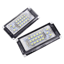 JIUWAN 2 Pcs/Set Car Trunk LED Number License Plate Lights 12V Lamp for BMW Mini Cooper R50 R52 R53 DXY88