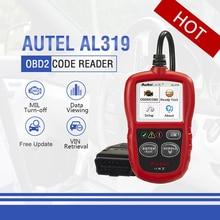 Autel Автоссылка AL319 автомобильный диагностический инструмент DIY считыватель кодов OBD2 OBDII Автомобильный сканер для считывания кода Автосканер OBD