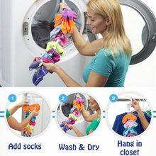 Органайзер хранения носков носок Регулируемый нескользящий подвесной веревочный крючок зажимы носок чистящий инструмент для носков, Сушка вешалка для одежды