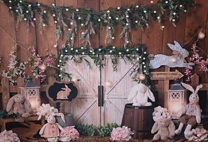 Image 3 - Mehofond Photography Background Vintage Wood Spring Happy Easter Rabbit Baby Shower Birthday Party Portrait Photo Backdrop Props