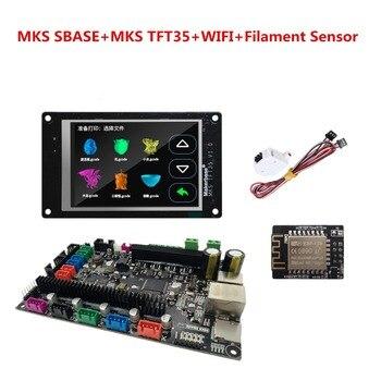 MKS SBASE + MKS touch screen TFT35 + MKS TFT WI-FI + filament detecting sensor TFT 35 display Smoothieware 3d printer supplies фото